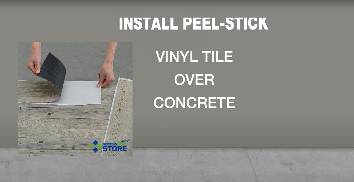 Install L And Stick Vinyl Tile, Can You Put Vinyl Tile On Concrete Floor